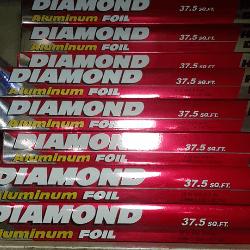 Diamond Aluminum Foil 37.5 SQ.F.T পাইকারি ডায়মন্ড অ্যালমুনিয়াম ফয়েল