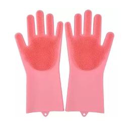 High Quality Silicone Dish Washing Kitchen Hand Gloves ।পাইকারি সিলিকন ডিস ওয়াসিং কিচেন হ্যান্ড গ্লোভস
