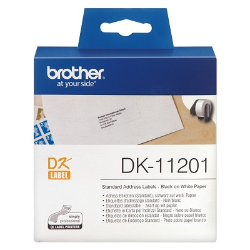 Brother Genuine DK-11201 Black on White 29mm x 90mm Label Roll