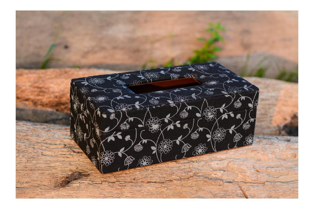 Printed Jute tissue box holder