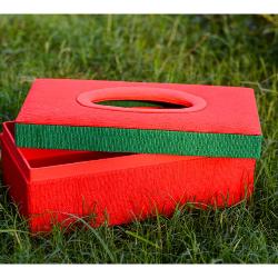 Jute tissue box holder